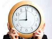 Clock set at 9a.m.